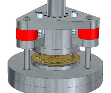 Press mould for radial outlet