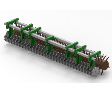 Single row of wave disc for an existing cultivator